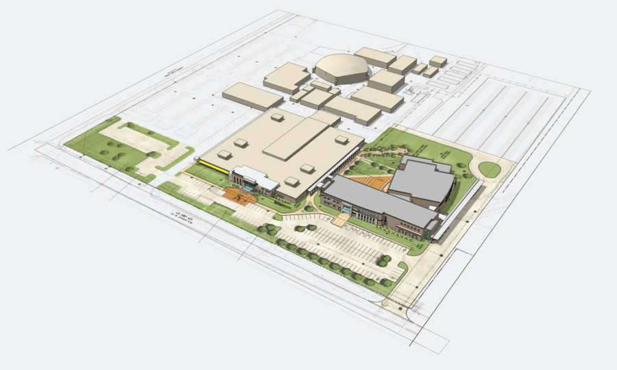axon rendering of campus