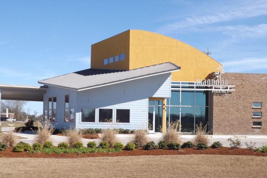 Bright exterior of Magnolia Pediatrics