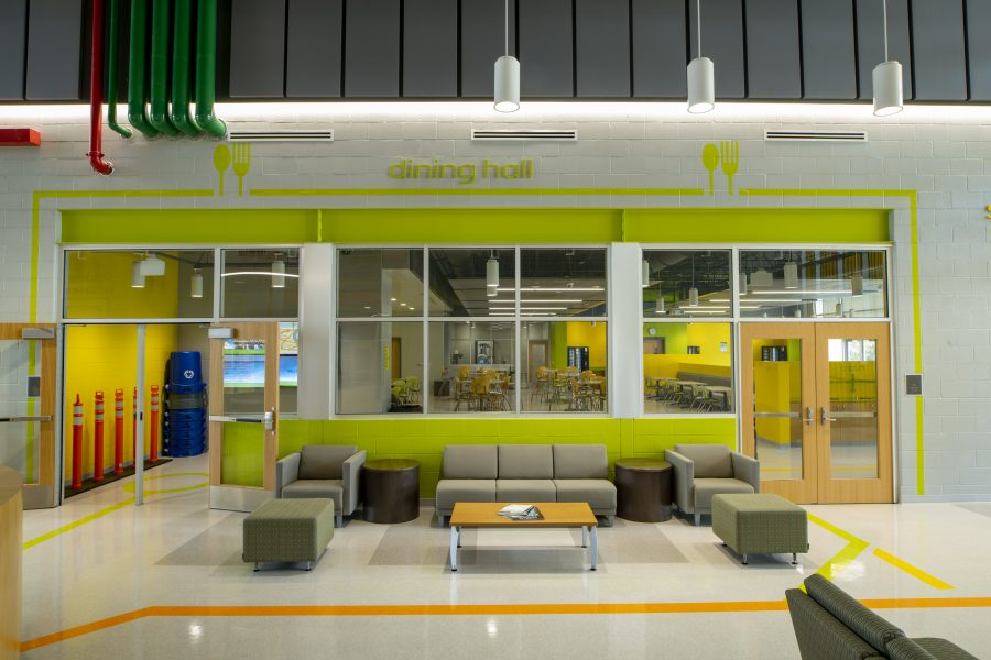 Dining hall entry from the student commons