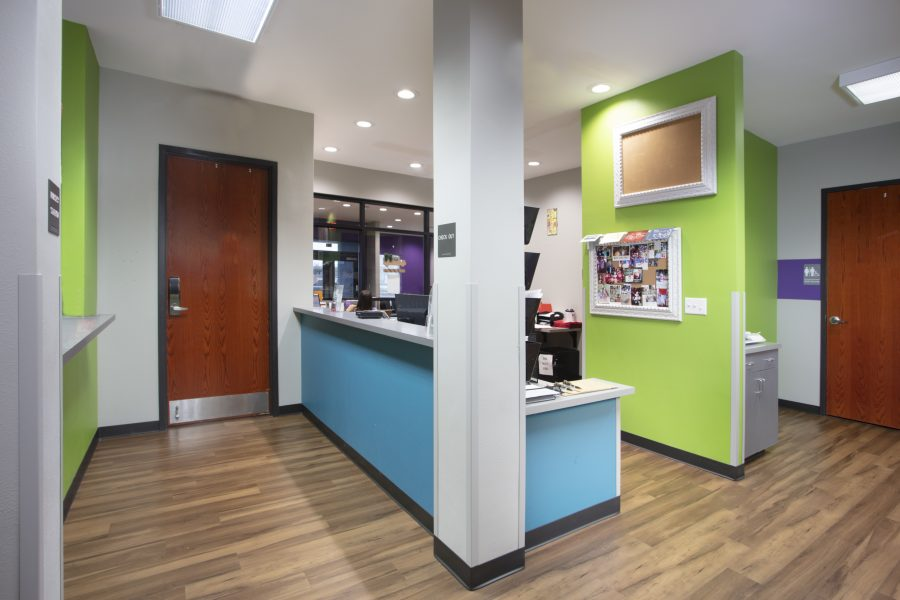 Clear and open space at the St. Elizabeth Pediatric Clinic.