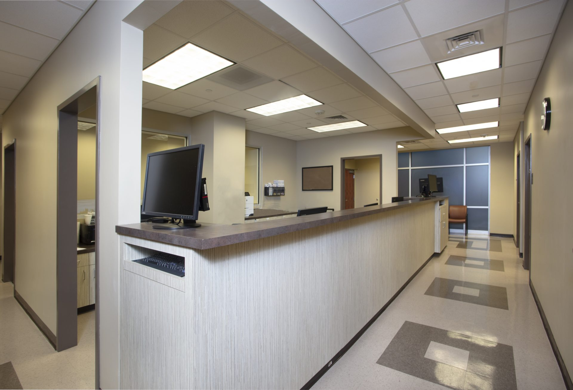 Nurses area at the STEP-In Clinic