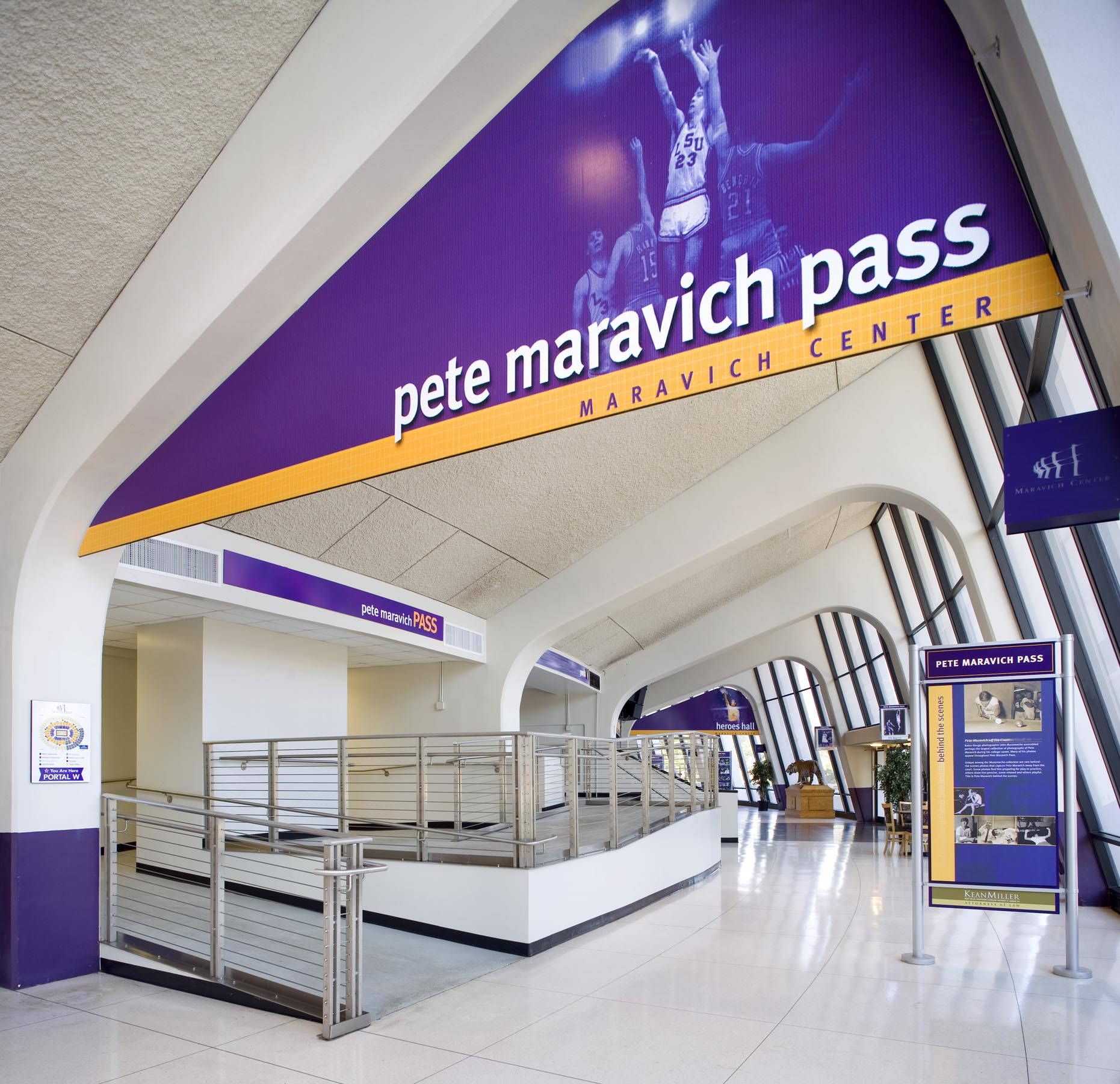 Pete Maravich Pass hallway at the Assembly Center