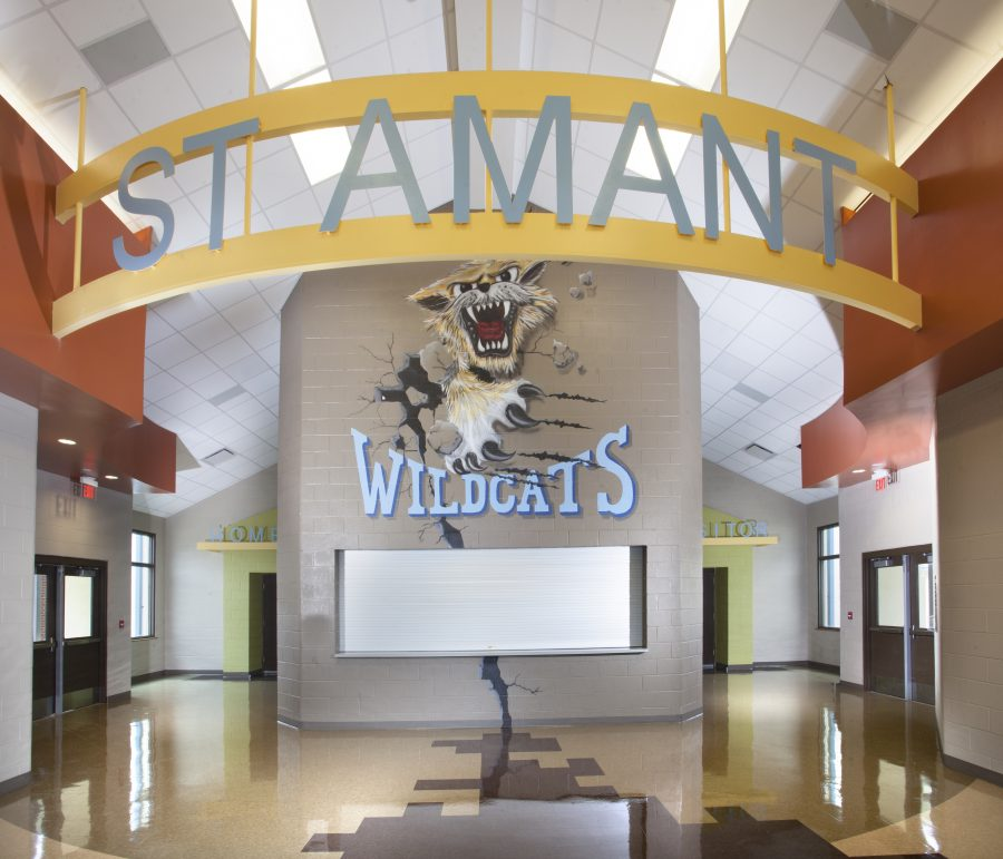Mural at St. Amant Middle.