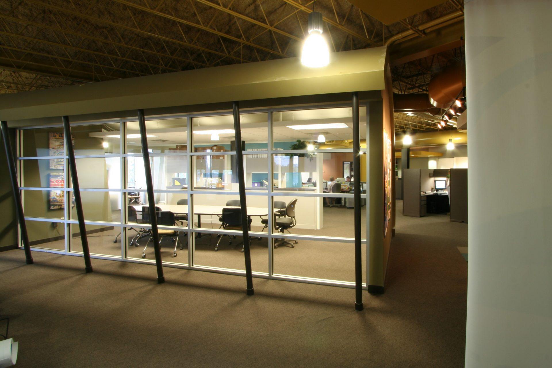 Meeting room at Lamar HQ.