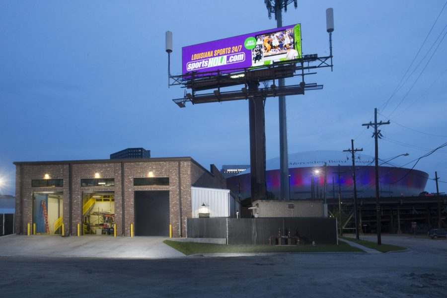 Lamar New Orleans exterior with view of the Superdome