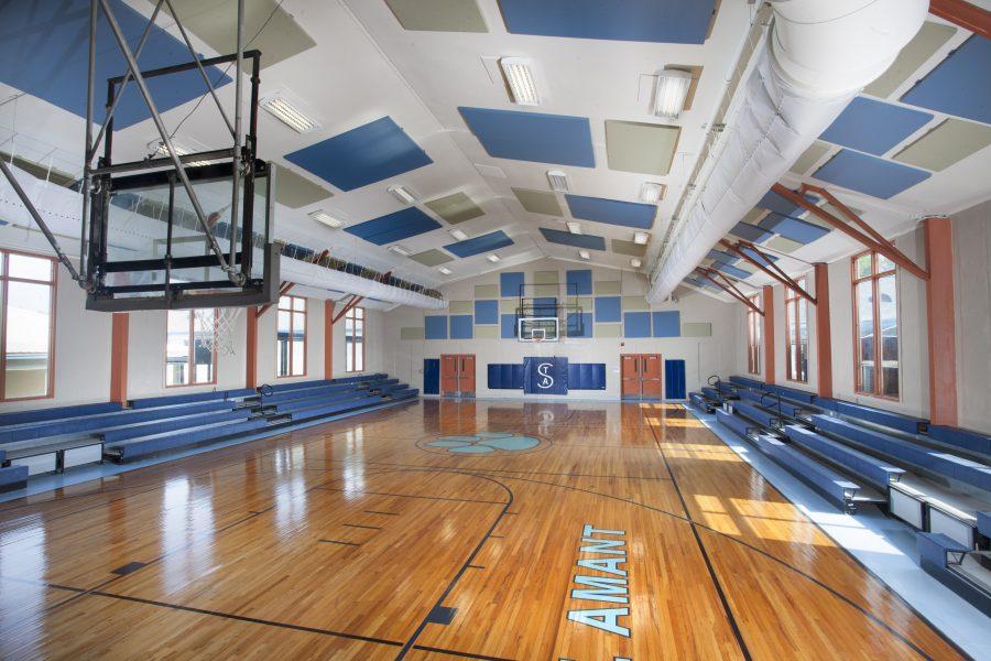 New, renovated gymnasium at St Amant.