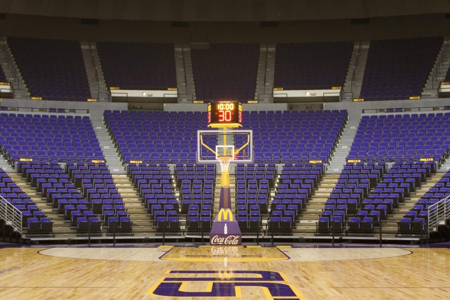LSU center court view at the PMAC.