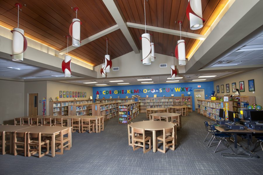 Library at G.W. Carver Primary.