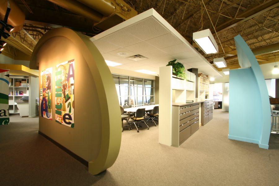Work isle at Lamar HQ.