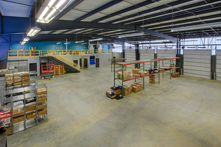 Shop and warehouse area.