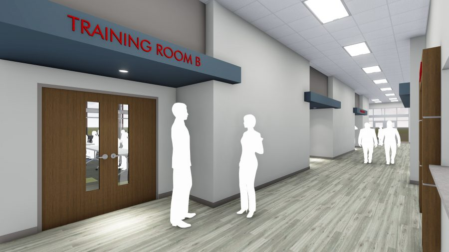 Rendering of extry to Training Room B