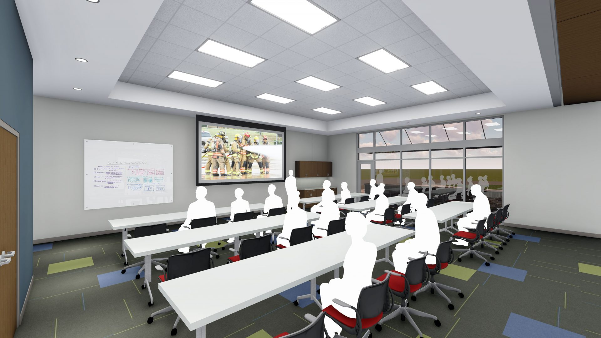 Rendering of a training room