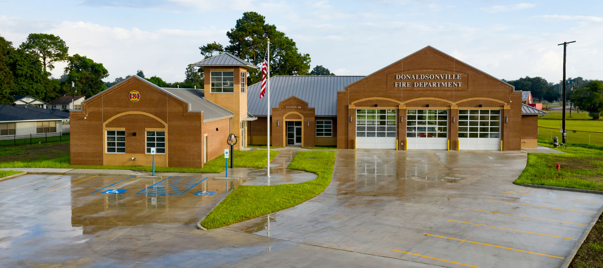 Exterior of Donaldsonville Fire Department