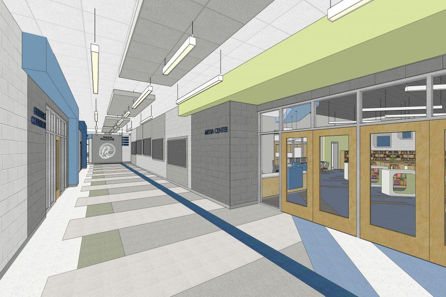 Rendering of main hall