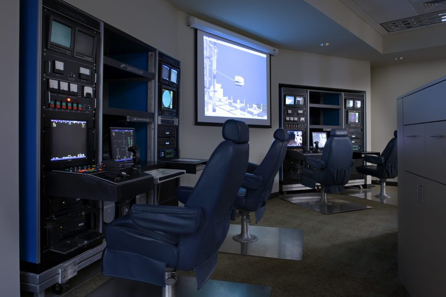 View of control room.