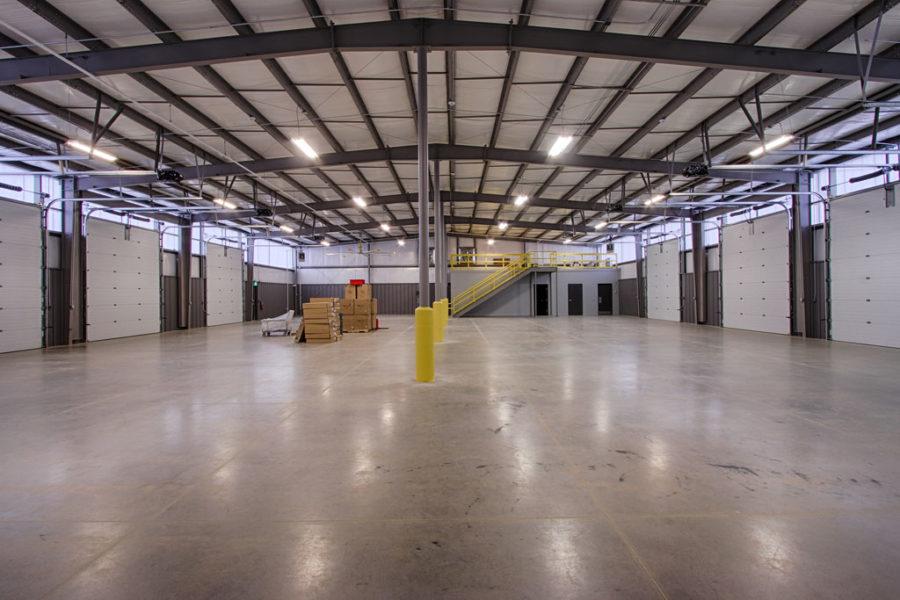 Interior of warehouse