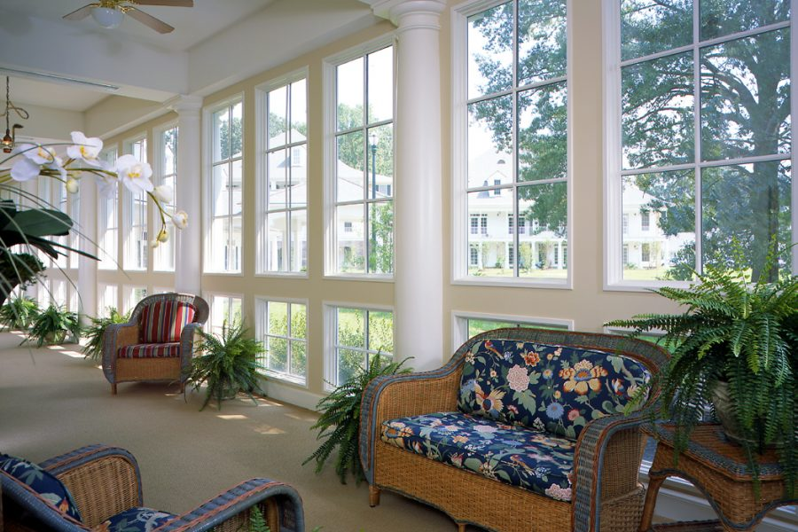 Sunroom with seating St. James Place.