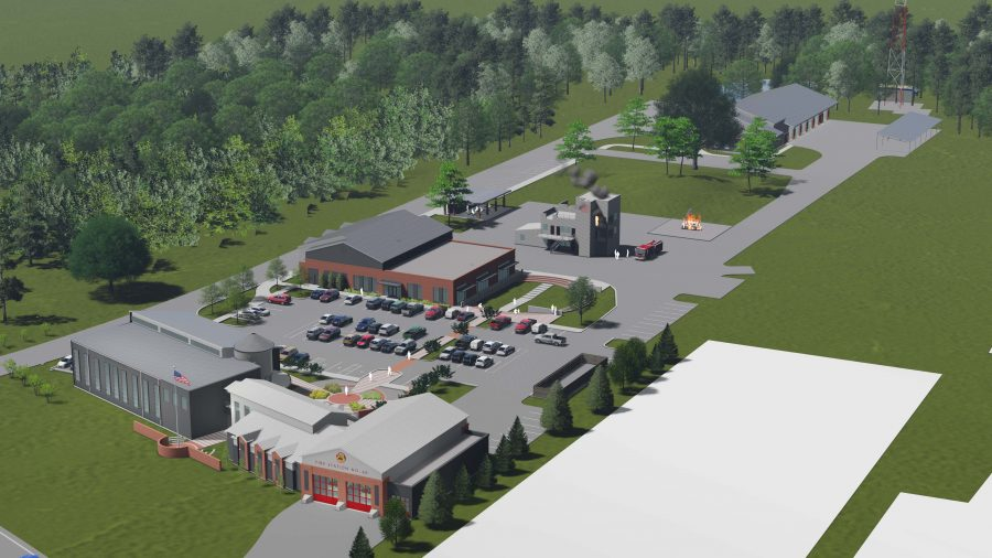 Aerial rendering of St. George campus